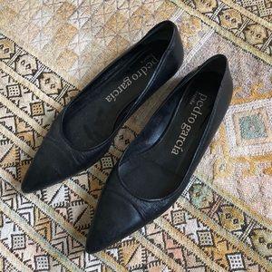 Pedro Garcia black leather flats size 37 1/2